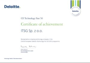 ITSG among fastest-growing technology companies in Central and Eastern Europe!